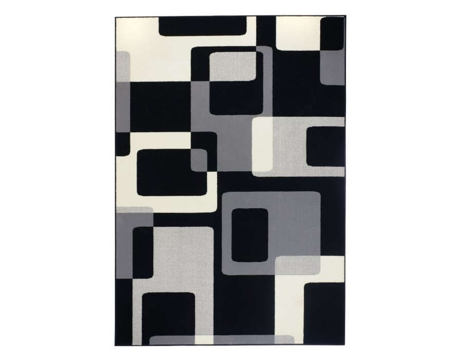 Covor Dreptunghiular Modern & Geometric Hamla Negru - C04-471008