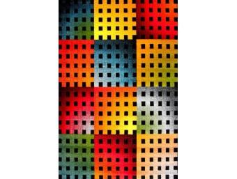 Covor Kolibri Albastru/Galben/Rosu Dreptunghi – 11001/180