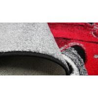 Covor Dreptunghiular Masina - Kolibri Gri/Rosu - 11117/192