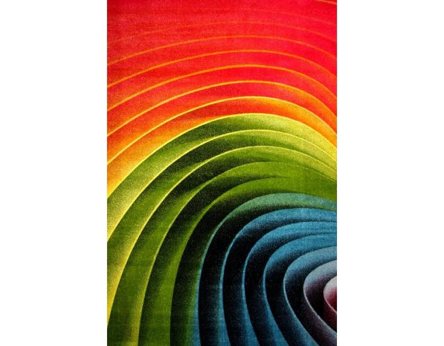 Covor Kolibri Rosu/Verde/Albastru Dreptunghi – 11006/130