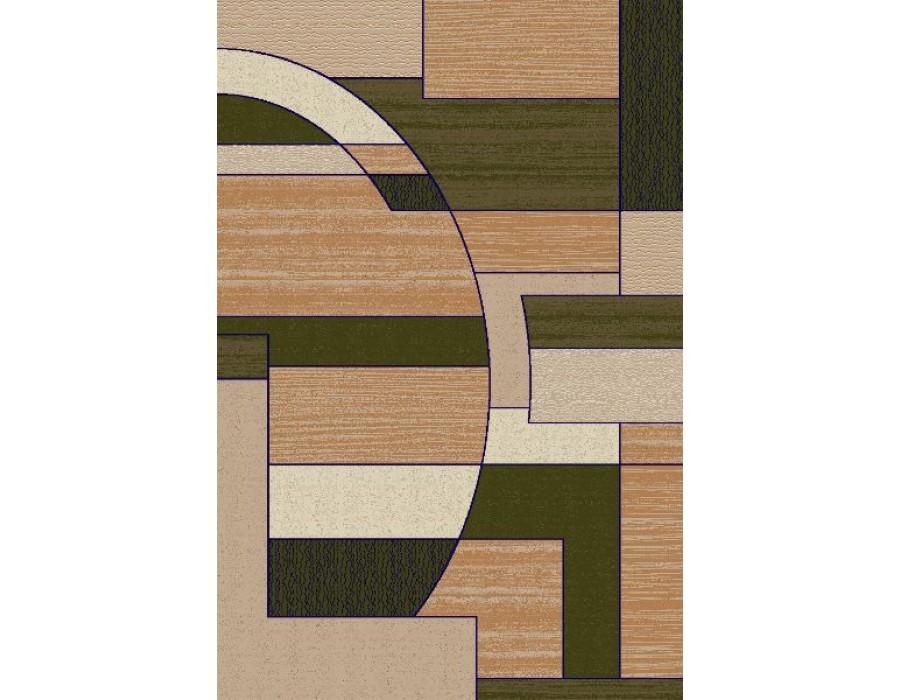 Covor Dreptunghiular Modern & Geometric - Lotus Verde - 538/836