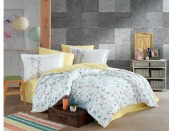 Lenjerie de pat dublu din Bumbac 100% Poplin Orient Yellow
