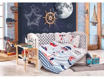 Lenjerie de pat copii Bumbac 100% Baby Sailor Blue