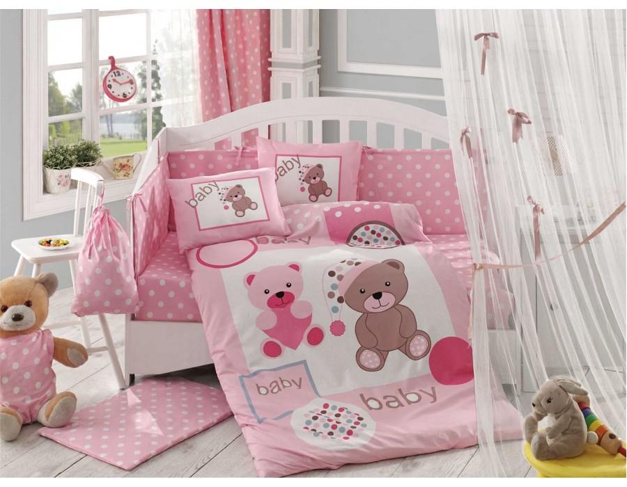 Lenjerie de pat copii Bumbac 100% Ponpon Pink