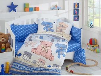Lenjerie de pat copii Bumbac 100% Tombik Blue