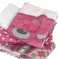 Lenjerie de pat copii Bumbac 100% Tombik Pink