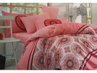 Lenjerie de pat dublu din Bumbac 100% Poplin Silvana Chorale