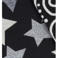 Lenjerie de pat dublu din Bumbac 100% Poplin Stars Black