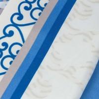 Lenjerie de pat dublu din Bumbac 100% Satinat Laura Blue