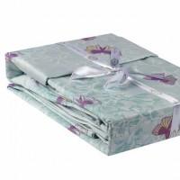 Lenjerie de pat dublu din Bumbac 100% Satinat Maria Mint