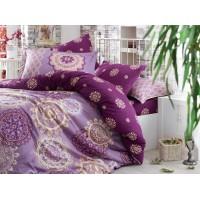 Lenjerie de pat dublu din Bumbac 100% Satinat Ottoman Purple