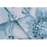 Lenjerie de pat dublu din Bumbac 100% Satinat Serena Turquoise