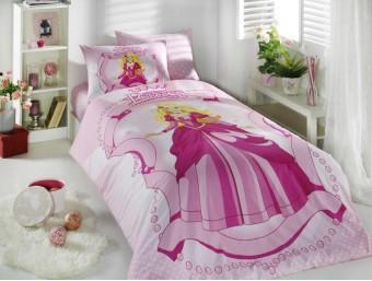Lenjerie de pat o Persoana Bumbac 100% Ranforce Princess Pink