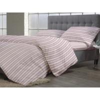 Lenjerie de pat dublu din Bumbac 100% Creponat Camelia Stripes