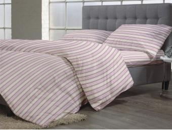 Lenjerie de pat dublu din Bumbac 100% Creponat Camelia Stripes – XXL