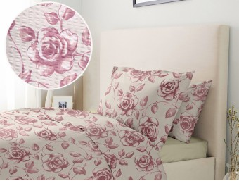 Lenjerie de pat dublu din Bumbac 100% Creponat Embroidery