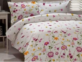 Lenjerie de pat dublu din Bumbac 100% Creponat Gardenia 02 – XXL