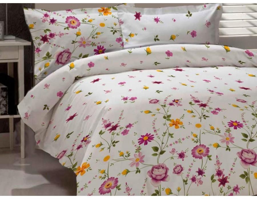Lenjerie de pat dublu din Bumbac 100% Creponat Gardenia 02