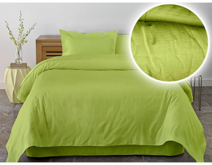 Lenjerie de pat dublu din Bumbac 100% Creponat Lime
