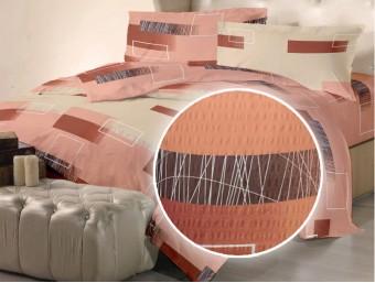 Lenjerie de pat dublu din Bumbac 100% Creponat Minimal 03 – XXL