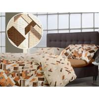 Lenjerie de pat dublu din Bumbac 100% Creponat Puzzle V3 – XXL