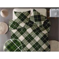 Lenjerie de pat pentru doua persoane din Bumbac 100% Creponat Scottish V7 - 4 piese