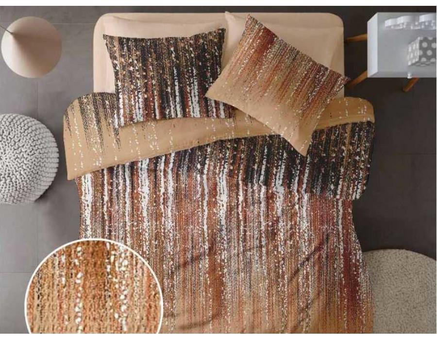 Lenjerie de pat pentru doua persoane din Bumbac 100% Creponat Stardust V1 - 4 piese XXL