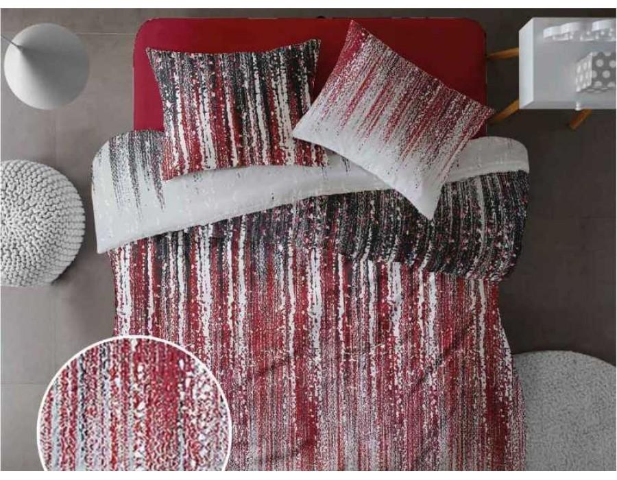 Lenjerie de pat pentru doua persoane din Bumbac 100% Creponat Stardust V2 - 4 piese