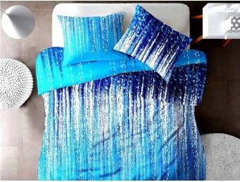 Lenjerie de pat pentru doua persoane din Bumbac 100% Creponat Stardust V3 - 4 piese XXL