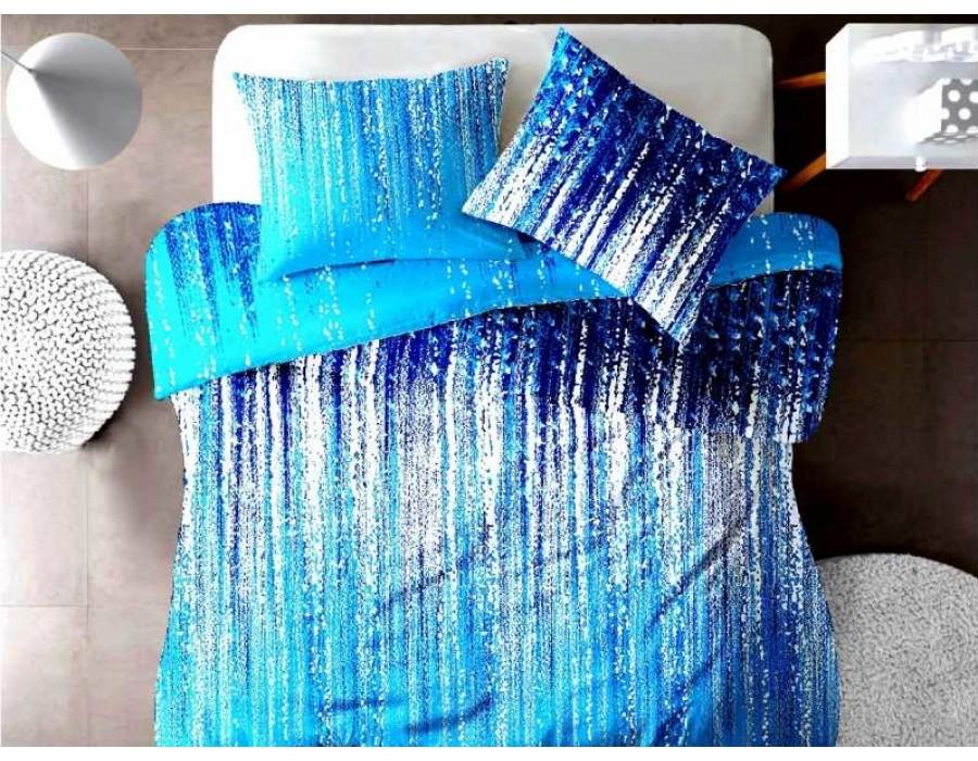 Lenjerie de pat pentru doua persoane din Bumbac 100% Creponat Stardust V3 - 4 piese