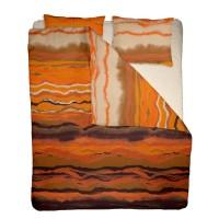 Lenjerie de pat dublu din Bumbac 100% Creponat Sunset