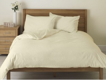 Lenjerie de pat dublu din Bumbac 100% Creponat Vanilla