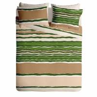 Lenjerie de pat pentru doua persoane din Bumbac 100% Creponat Vibe V1 - 4 piese XXL