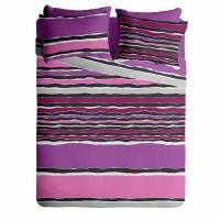 Lenjerie de pat pentru doua persoane din Bumbac 100% Creponat Vibe V3 - 4 piese