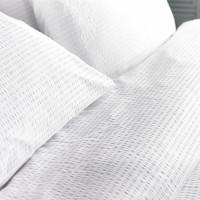 Lenjerie de pat dublu din Bumbac 100% Creponat Alb