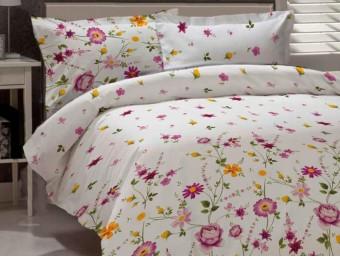 Lenjerie de pat dublu din Bumbac 100% Ranforce Gardenia 02
