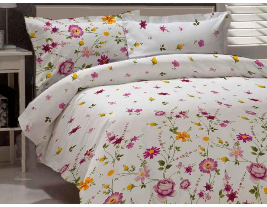Lenjerie de pat dublu din Bumbac 100% Ranforce Gardenia 02 – XXL