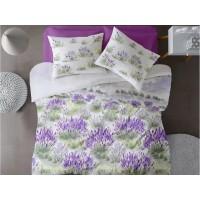 Lenjerie de pat dublu din Bumbac 100% Ranforce - Lavender - 4 piese