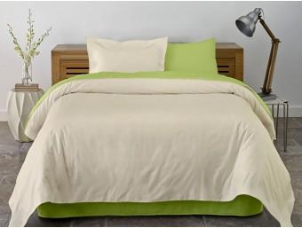Lenjerie de pat dublu din Bumbac 100% Ranforce Lime & Vanilla