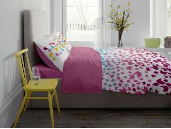 Lenjerie de pat dublu din Bumbac 100% Ranforce Loving Matisse V1 - Fata Reversibila