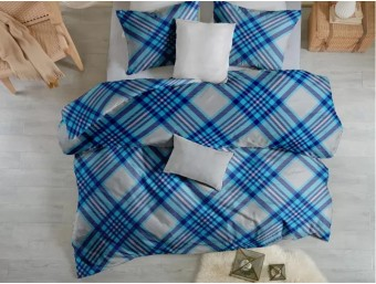 Lenjerie de pat dublu din Bumbac 100% Ranforce - Scottish V5 - 4 piese