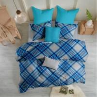 Lenjerie de pat dublu din Bumbac 100% Ranforce - Scottish V5 - 4 piese XXL