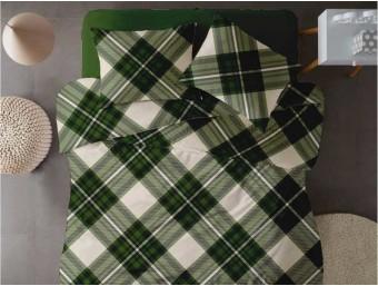 Lenjerie de pat dublu din Bumbac 100% Ranforce - Scottish V7 - 4 piese