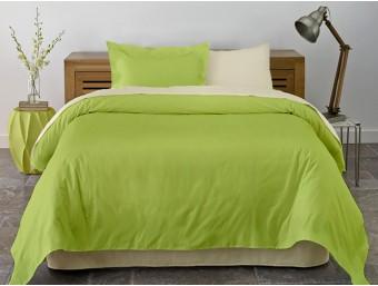 Lenjerie de pat dublu din Bumbac 100% Ranforce Vanilla & Lime