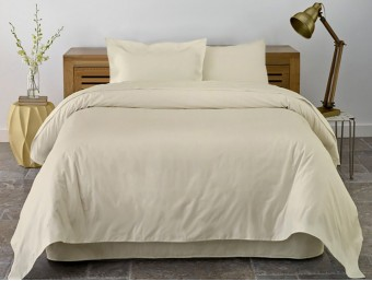 Lenjerie de pat dublu din Bumbac 100% Ranforce Vanilla – XXL