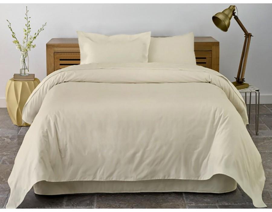 Lenjerie de pat dublu din Bumbac 100% Ranforce Vanilla