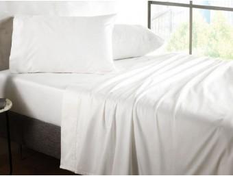 Lenjerie de pat dublu din Policotton Alb Hardy