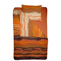 Lenjerie de pat 1 persoana din Bumbac 100% Creponat Sunset