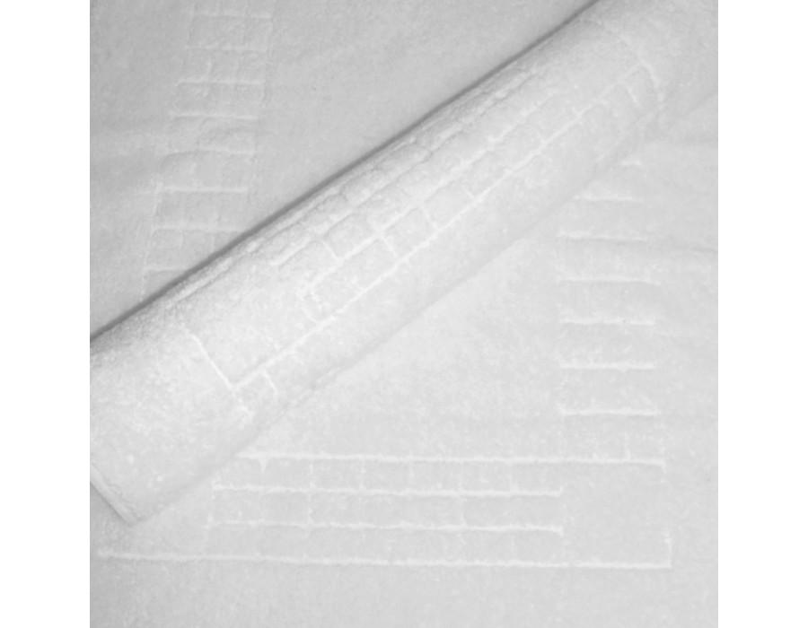 Prosop/covoras bumbac 100% pentru picioare  Mozaic Alb