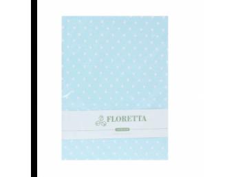 Set fete de perna Floretta Albastru Buline 50x70 cm